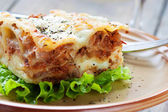 Fresh homemade lasagna — Stock Photo
