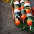 Vegetable kebab — Stock Photo