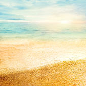 Coucher de soleil et d'une amende de sable — Photo