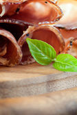 Sušené vepřové límec salám — Stock fotografie
