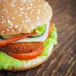 Fried chicken or fish burger sandwich — Stock Photo