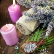 Lavender spa setting — Stock Photo