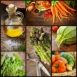 Fresh vegetables collage - Stock Photo