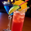 Two colorful cocktails — Stock Photo #11147631