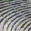 Fragment of a stone amphitheater stands - Stock Photo
