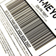 Package bar code - Stock Photo