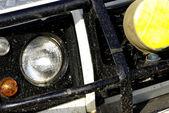 Dirty safari off-road car detail — Stock Photo