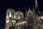 View of Notre-Dame cathedral by night — Stock Photo