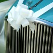 Car wedding decoration — Stock Photo