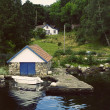 Small Jetty in Norwegian Fjord — Stock Photo