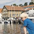 Stock Photo: Children in Stavanger Harbor, Norway