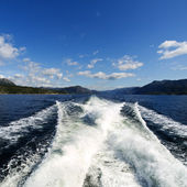 Cruising in the norwegian fjords — Stock Photo