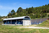 Water Treatment Plant with Solar Panels — Stock Photo