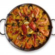 Isolated Traditional Spanish Paella — Stock Photo #10951140