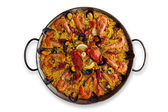 Isolated Traditional Spanish Paella — Stock Photo