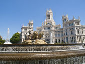 Cibeles Square and Palacio de Comunicaciones, Madrid — Stock Photo