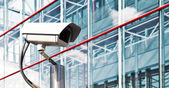 камеры безопасности в современном офисе — Стоковое фото