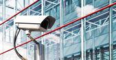 Bezpečnostní kamery v moderní kancelářské — Stock fotografie