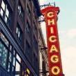 Chicago Neon Sign - Stock Photo