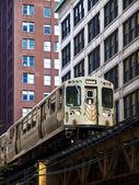 "The Chicago ""L"" Train — Stok fotoğraf"
