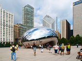 Chicago, USA - August 2010: Tourists visiting The Bean (Cloud Ga — Foto Stock