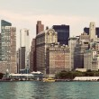Vintage Manhattan Skyline - Stock Photo