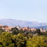 Landscape Panorama of El Escorial Village, Madrid — Stock Photo #11204736
