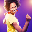 Afro american woman dancing — Stock Photo #11302404