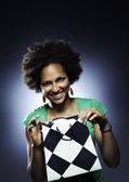 Afro american girl portrait — Stock Photo