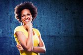 Afro american woman portrait — Stock Photo