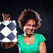Cute Afroamerican Girl with a Shopping Bag — Stock Photo