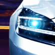 Futuristic Car Headlight — Stock Photo