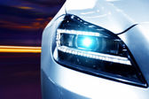 Futuristic Car Headlight — 图库照片