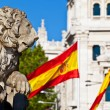 Cibeles Fountain Stone Lion Detail, Madrid — Stock Photo #12009258