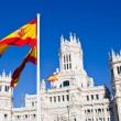 Detail of Palacio de Comunicaciones at Plazde Cibeles in Madri — Stock Photo #12009265
