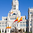 Stock Photo: Cibeles Fountain and Palacio de Comunicaciones, Madrid