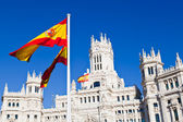 Detail of Palacio de Comunicaciones at Plaza de Cibeles in Madri — Stock Photo