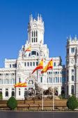 Cibeles Fountain and Palacio de Comunicaciones, Madrid — Stock Photo