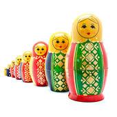 Colección de antiguas muñecas rusas — Foto de Stock