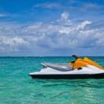 Jet Ski Moored in the Caribbean Sea — Stock Photo #12261470