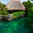 Heavenly lagoon in the Mayan Riviera — Stock Photo