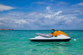 Jet Ski Moored in the Caribbean Sea — Stock Photo