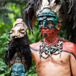 Постер, плакат: Mayan Shaman in the Xcaret Show in Mexico