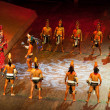 Постер, плакат: Actors perfoming the ball mayan game