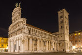 San Michele at night, Lucca, Tuscany, Italy — Stock Photo