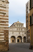 San Martino with piazza, Lucca, Tuscany, Italy — Stock Photo