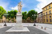 Piazza Napoleone in Lucca, Tuscany, Italy — Stock Photo