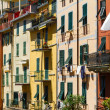Colorful buildings in Riomaggiore, Cinque Terre, Italy - Foto Stock