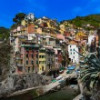 Harbor view in Riomaggiore, Cinque Terre, Italy — Stock Photo