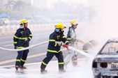 Chinese fire fighting — Stock Photo